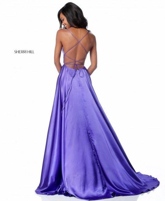 Sherri Hill 51631 Open Lace Up Back Prom Dress Sherri Hill