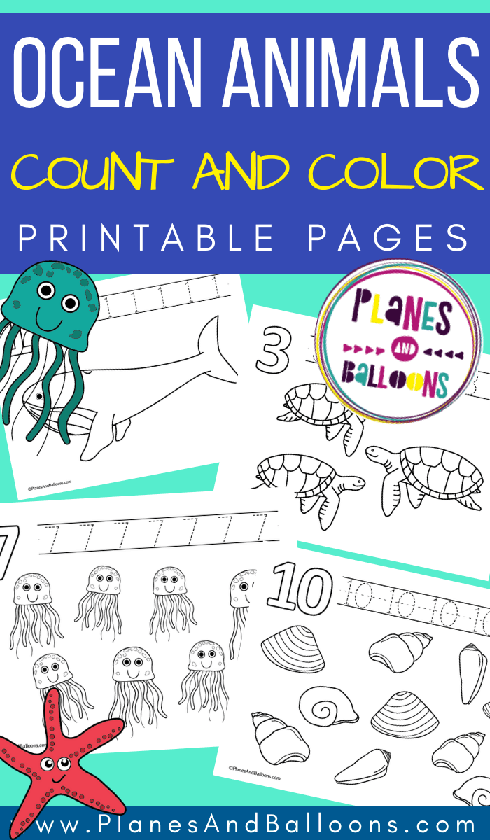 Ocean Animals Counting Pages Counting Activities Preschool Ocean Activities Preschool Math Activities Preschool [ 1200 x 700 Pixel ]