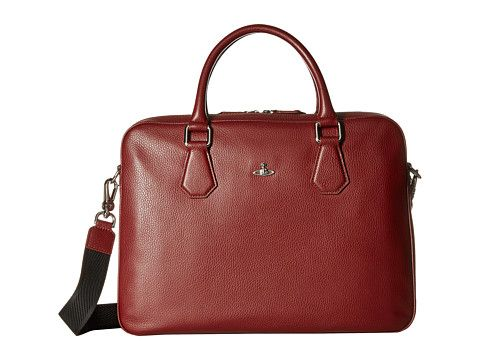 VIVIENNE WESTWOOD Milano Computer Briefcase. #viviennewestwood #bags #shoulder bags #hand bags #leather #