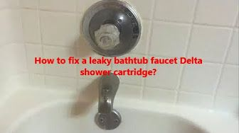 How To Fix A Leaky Bathtub Faucet Single Handle Youtube