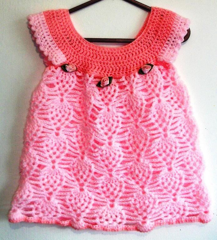 Baby Girl Pineapple Dress | Bellezas en croche 1 | Pinterest | Para ...