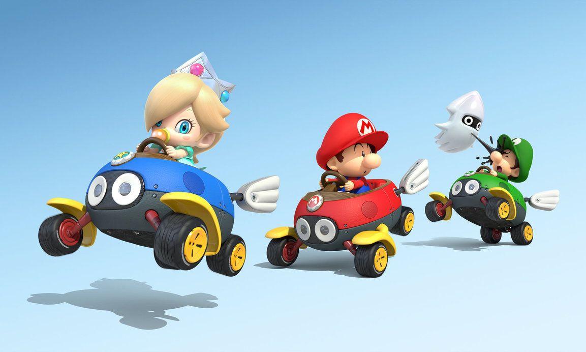 Baby Mario And Friends Baby Rosalina Mario And Luigi In Mario Kart 8 By Rosalina Luma Mario Kart Mario Kart 8 Mario And Luigi