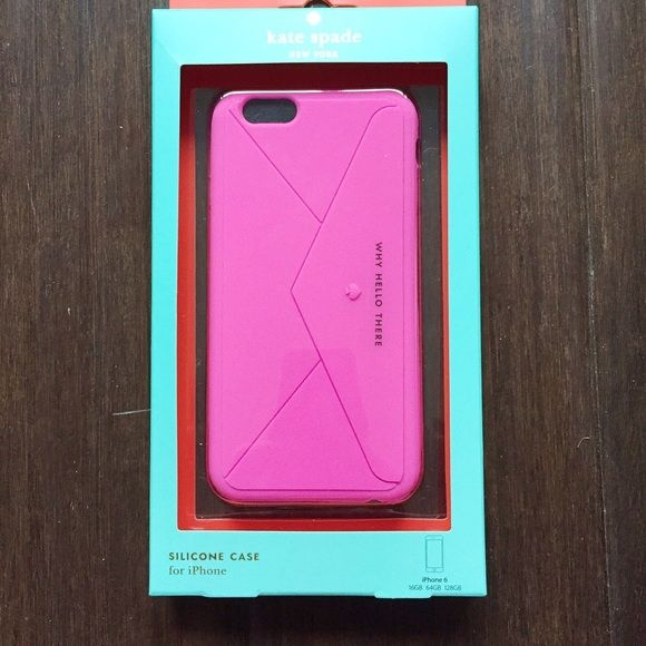 Kate Spade Why Hello There Envelope iPhone 6 case Brand new in box