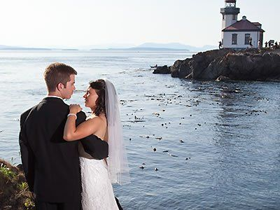 Lime Kiln Point State Park Lighthouse Friday Harbor Weddings San Juan Islands Wedding Venues 98250