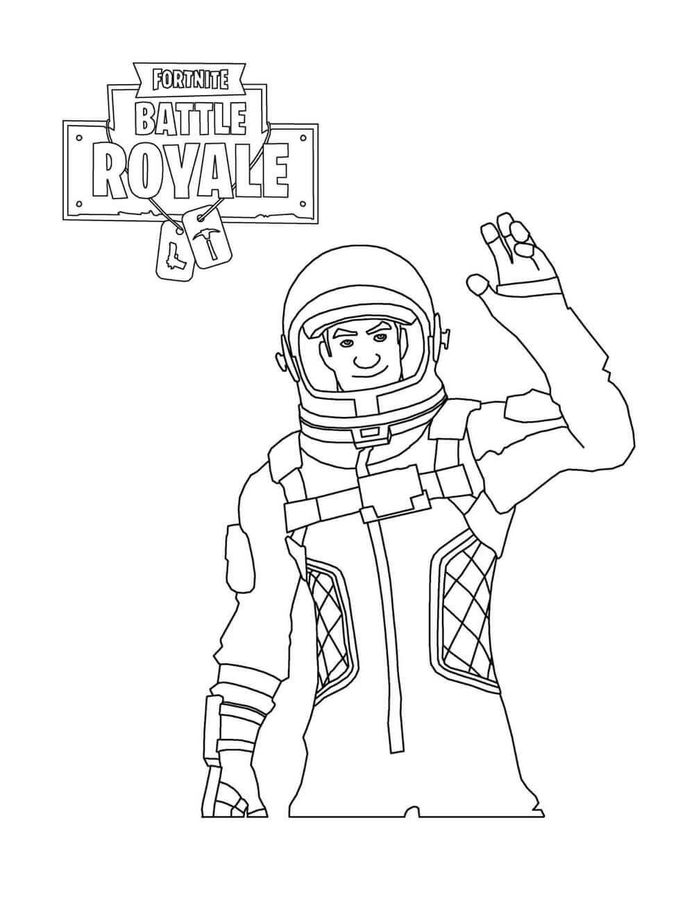 Fortnite Coloring Pictures Astronaut Kids Birthday Party