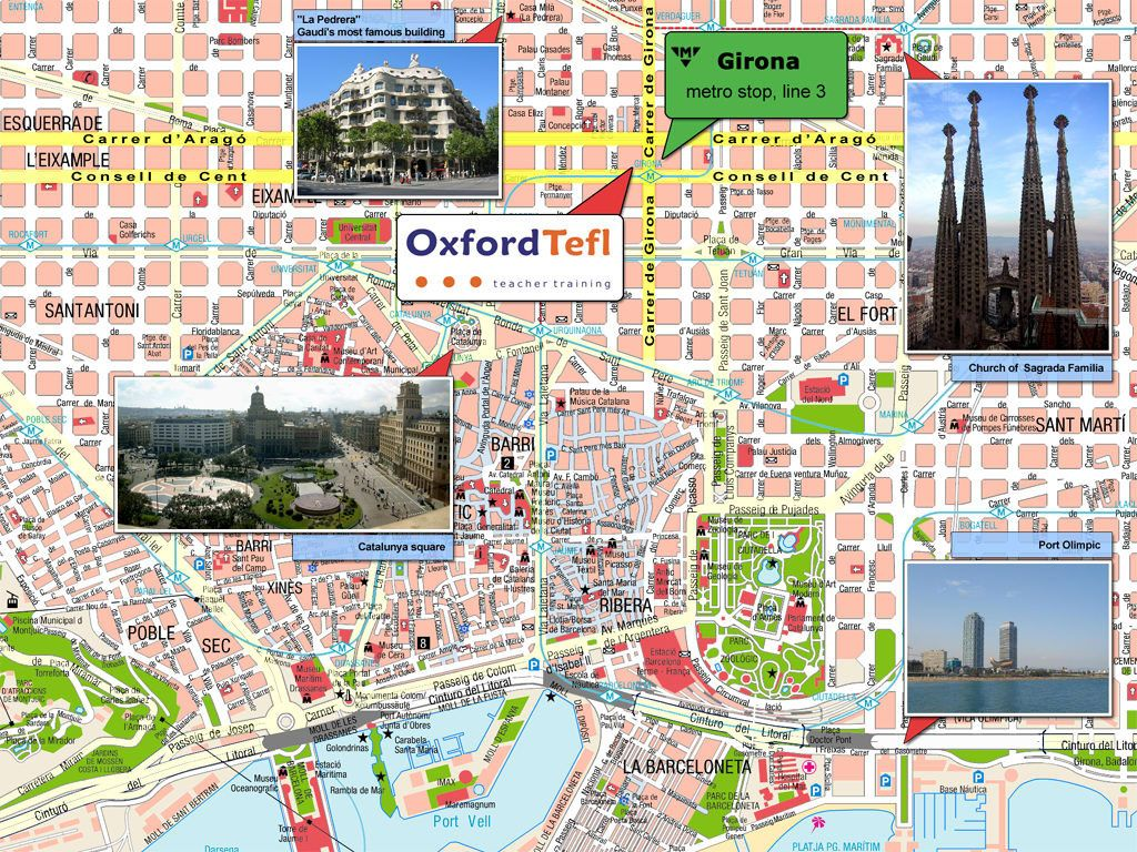 Barcelona sightseeing map barcelona tourist map see map - Bus toulouse barcelona ...