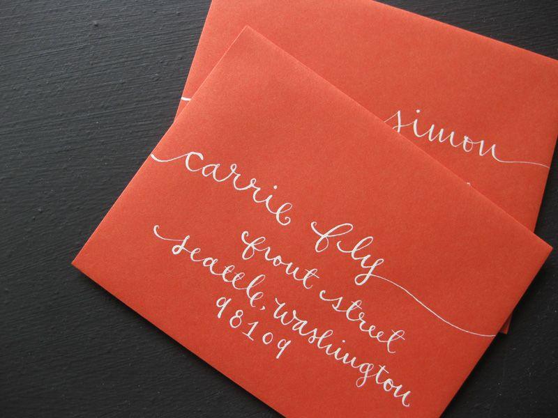 Red, White + Kraft Bridal Shower Invitations | Envelopes ...