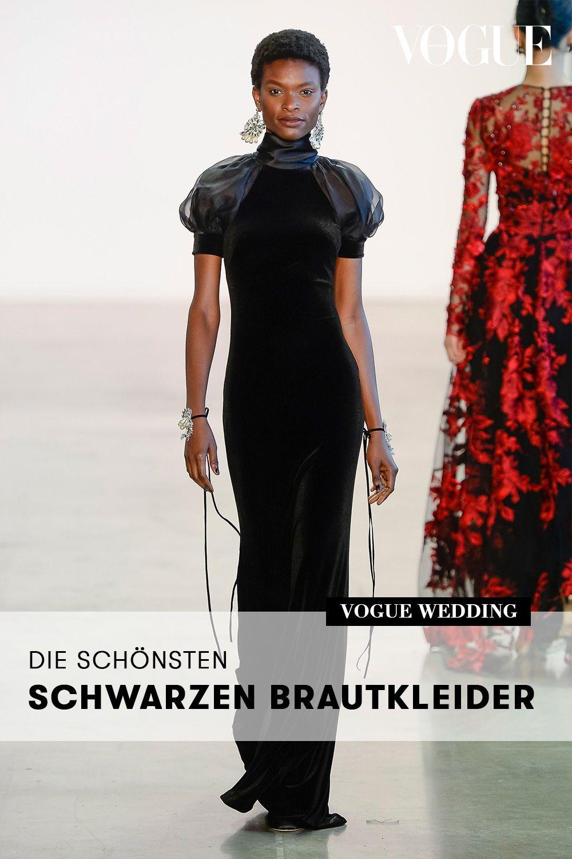 Wurden Sie Ein Schwarzes Brautkleid Tragen Diese Braute Trauten Sich Schwarzes Brautkleid Kleider Brautkleid
