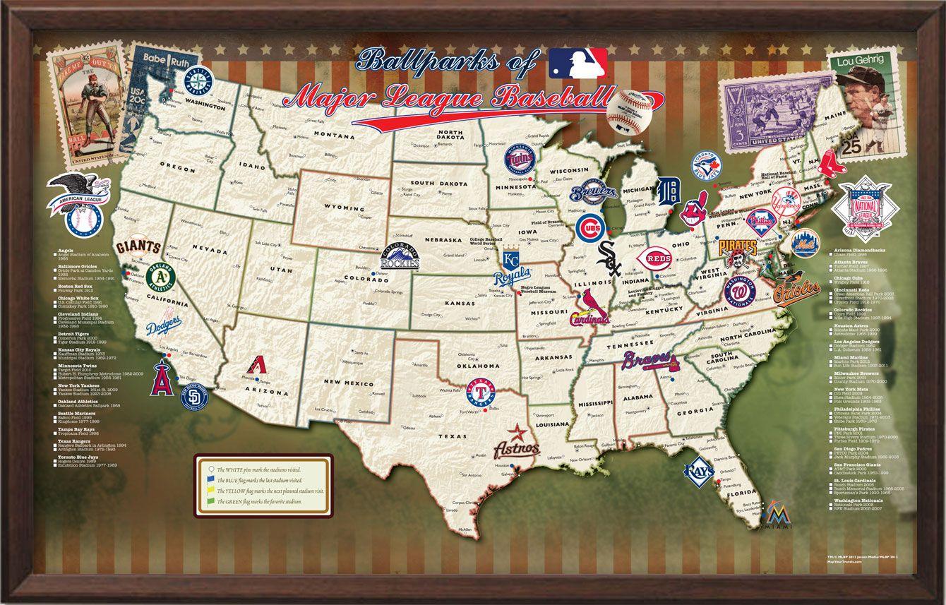 Mlb Map Google Search Church Of Baseball Cardinals Baseball Opening Day Baseball