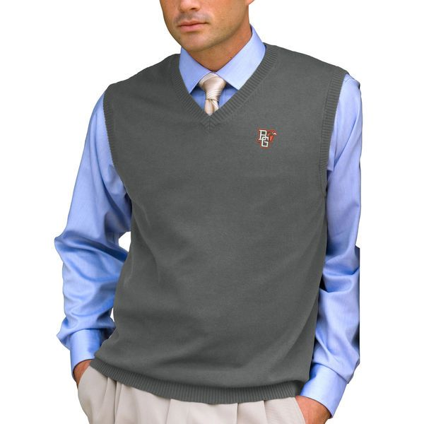 Bowling Green St. Falcons Milano Knit Sweater Vest - Heathered Gray - $64.99