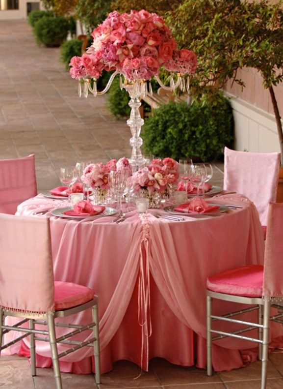 elegant pink reception table decoration w e d d i n g On decoration fiancaille