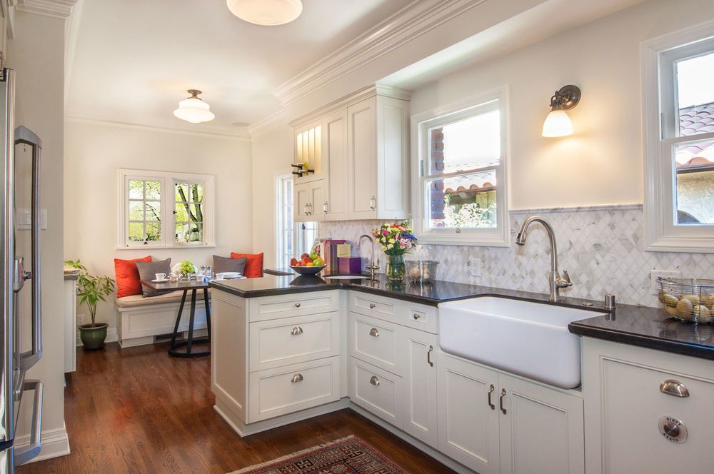 The Kitchen Remodel In This Tudor Home Located In Belmont Shore - Tudor kitchen remodel