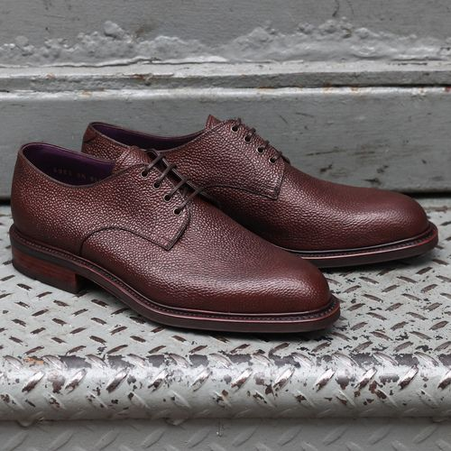 Carmina pebble calfskin derby in brown. Double leather sole with Dainite.    Dress shoes men, Professional fashion, Oxford shoes