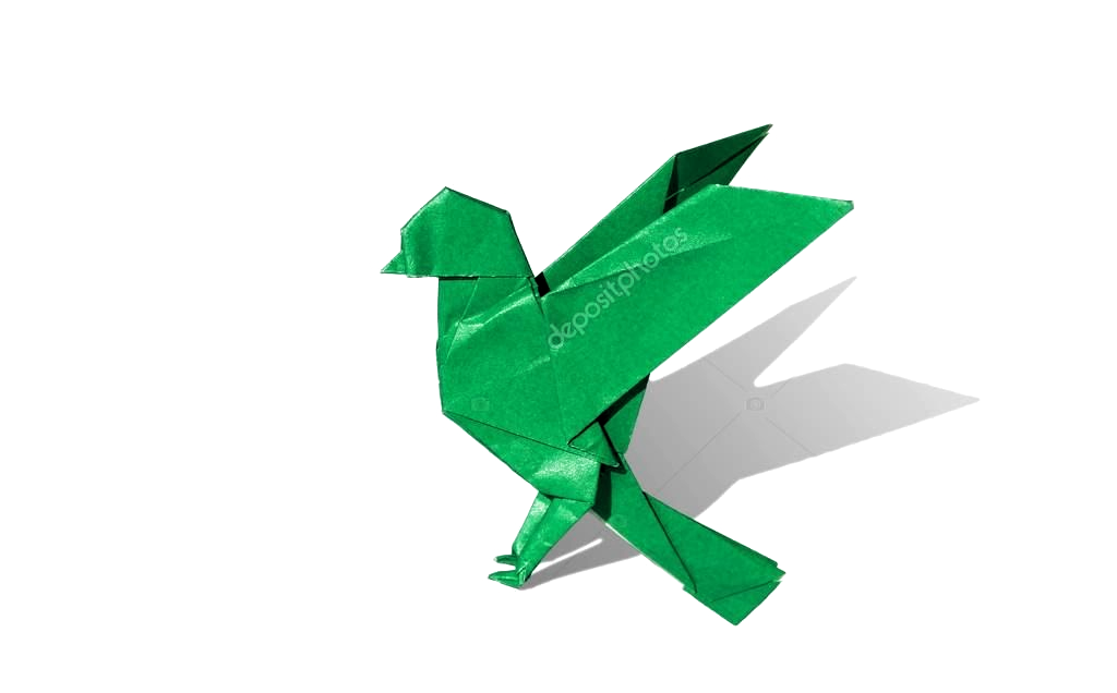 Photo of Green Origami Bird Robin isolated on white – Stock Photo , #AD, #Bird, #Robin, #…