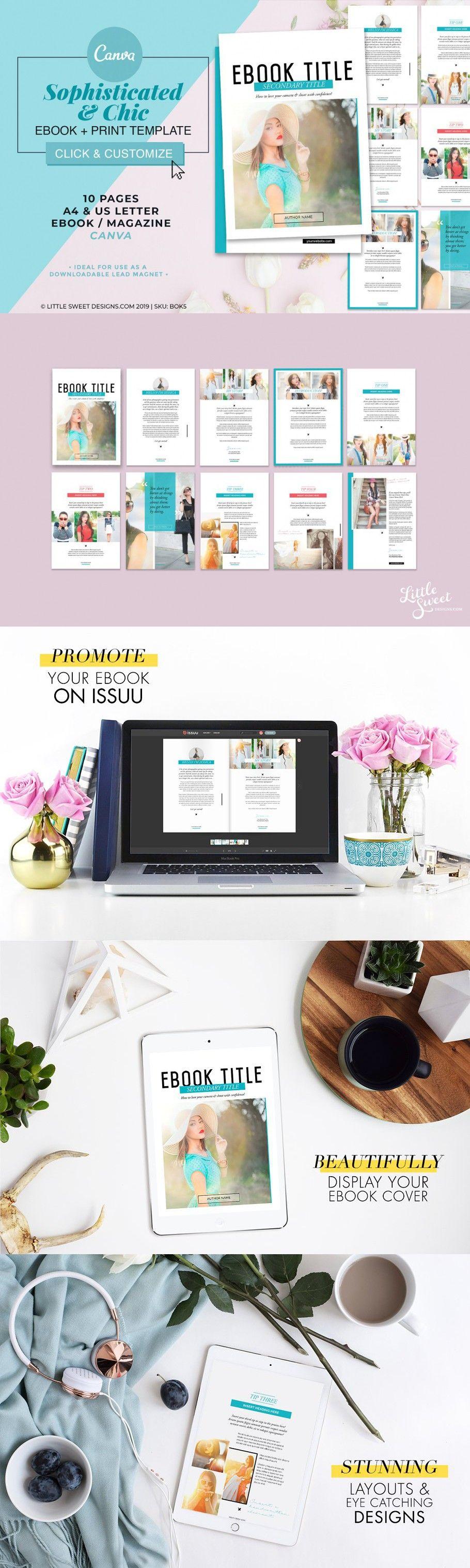 Magazine/eBook Template Canva in 2020 Ebook template