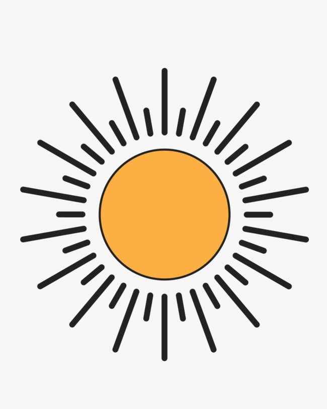 Sun Black Lines Material Picture Sun Radiance Cartoon Sun Png