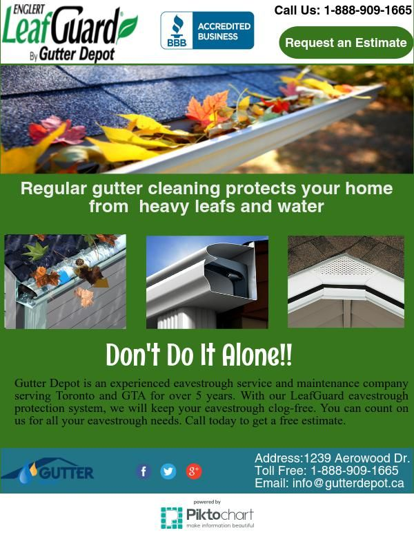 Have A Look On The Beautiful Infographics Of Gutter Depot To Eavestrough Cleaning Cleaning Toronto
