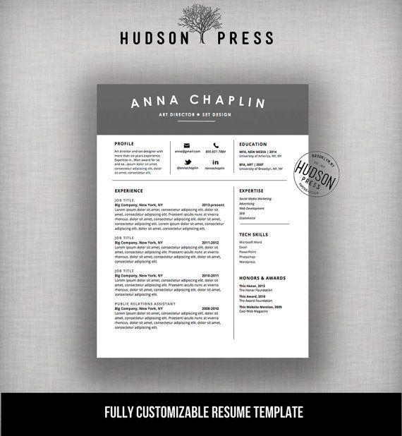 Resume Template | CV Template + Cover Letter | Letterhead Stationery ...