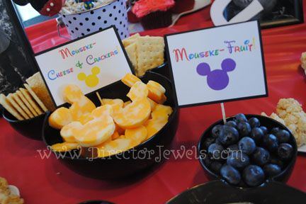 Director Jewels Mickey Mouse Clubhouse Birthday Party Toddler Friendly Food Ideas