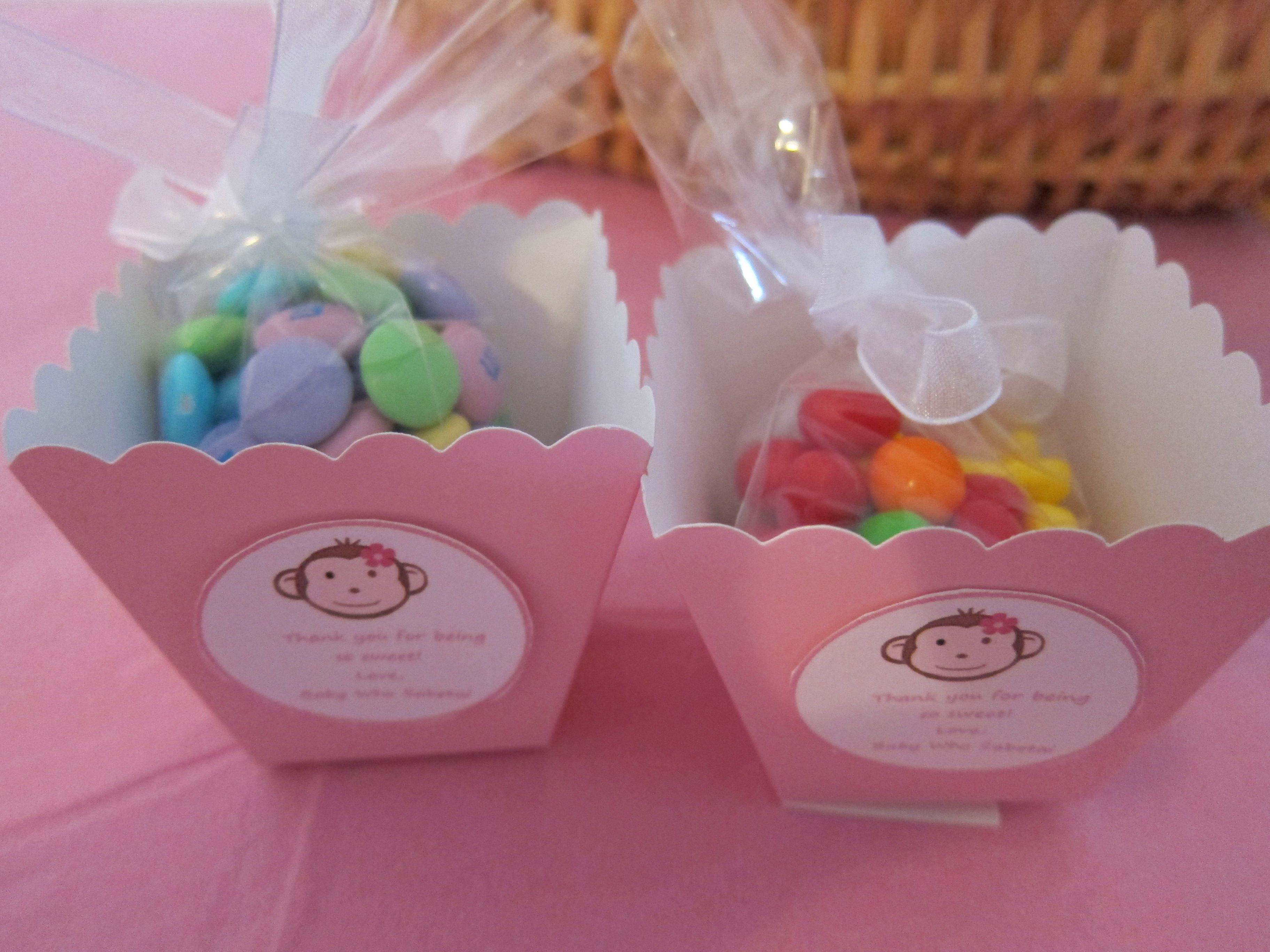 Baby shower favors with Runts and pastel M&Ms - Runts to fit the ...
