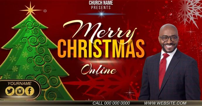 Christmas Online Live Event Ad Template In 2020 Worship Videos Social Media Template Social Media