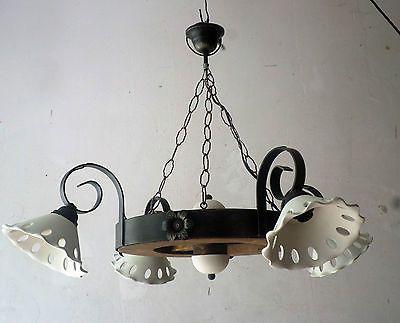 Lampadario Stile Rustico : Lampadario rustico in ferro battuto e legno terracotta mod ruota