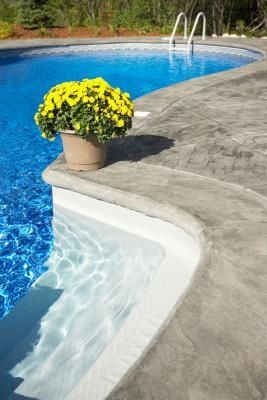 How To Paint Concrete Planters Hunker Pool Steps Swimming Pool Steps Pool Plaster
