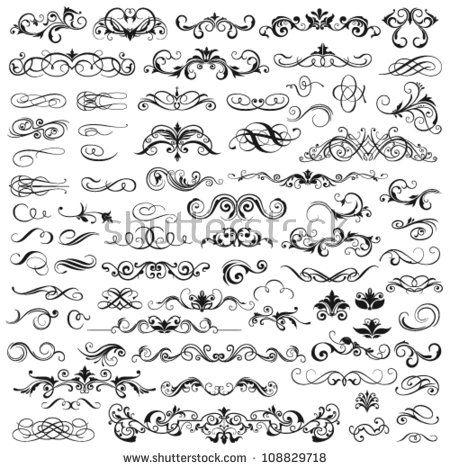 f4f06ea156e Free Download 65 Floral Decorative Ornaments Vector Pack. Free Calligraphic  Elements Clip Art