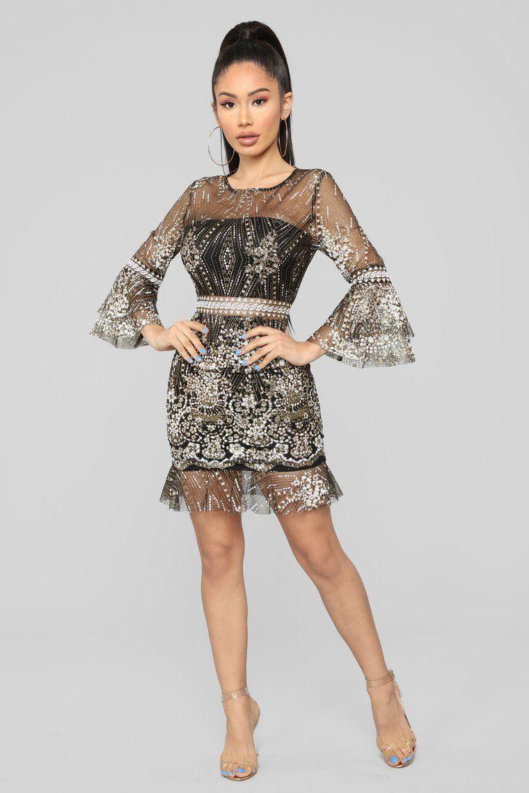 razzle and dazzle mini dress  black  fashion nova in
