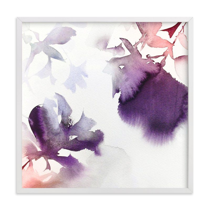 """Spring in Purple"" - Art Print by V E R Y M A R T A in beautiful frame options and a variety of sizes."