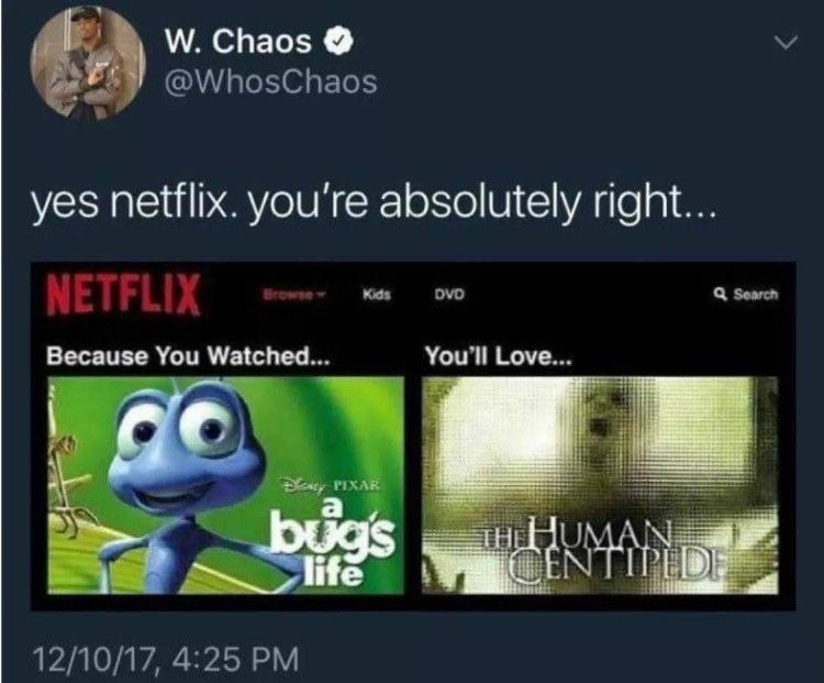 No Thank You Netflix humor Funny images, Tumblr funny