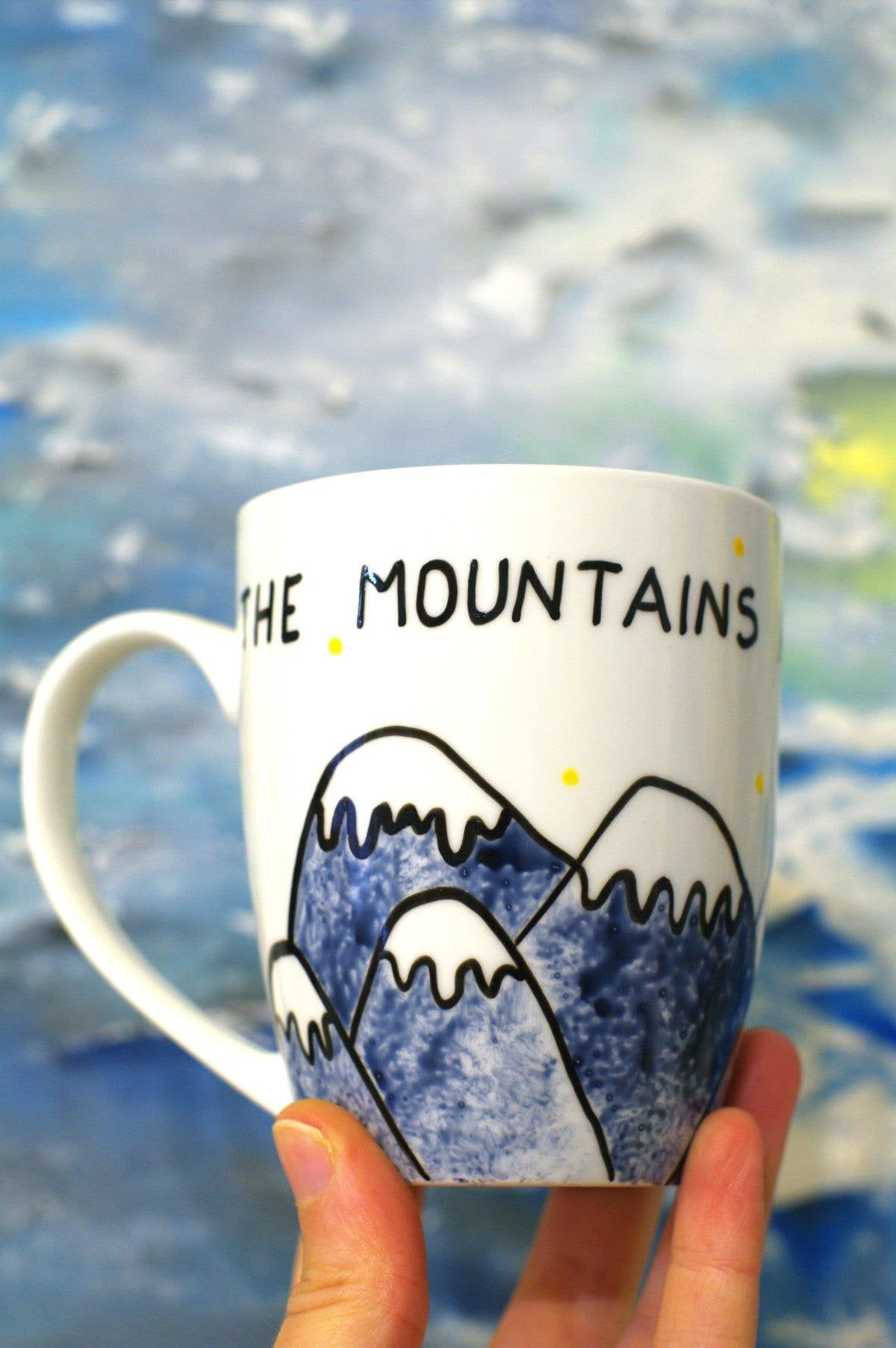 Hiking gifts for him Coffee mug hiker Love gift for