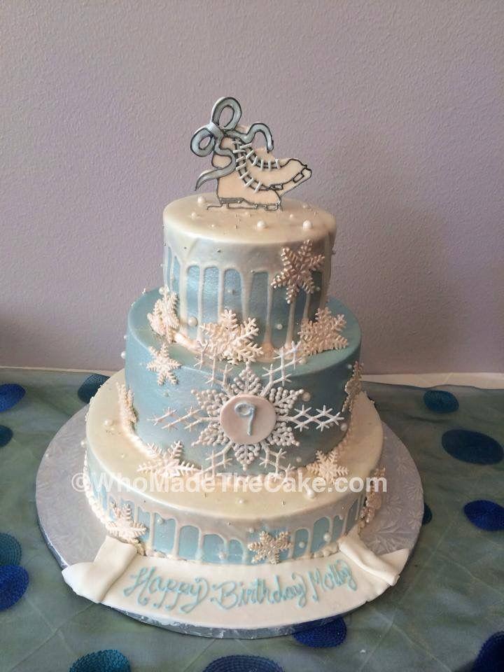 Ice Skating Birthday Cake By Whomadethecake Iceskatingcake