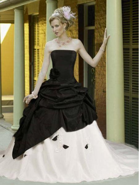 Elegant Goth Wedding Dress