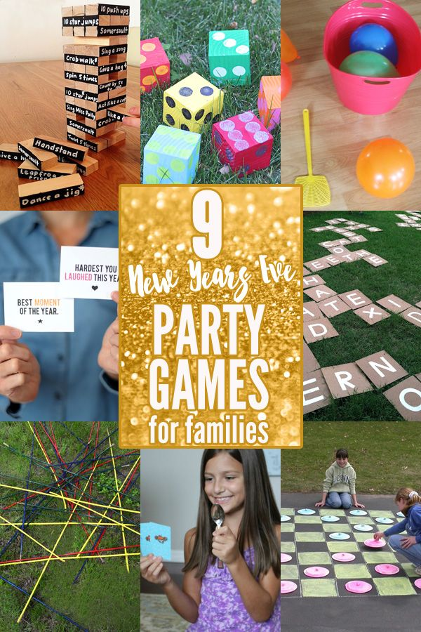 9 new years eve party games for families new years pinterest