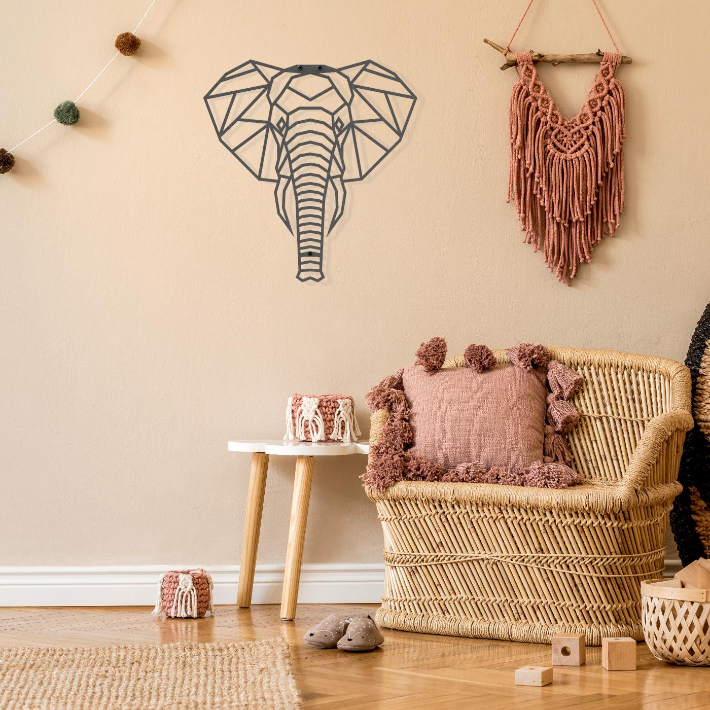 Stalen Wanddecoratie Kinderkamer Babykamer Jungle Dieren Olifant In 2021 Thuisdecoratie Inrichting Kinderkamer Babykamer