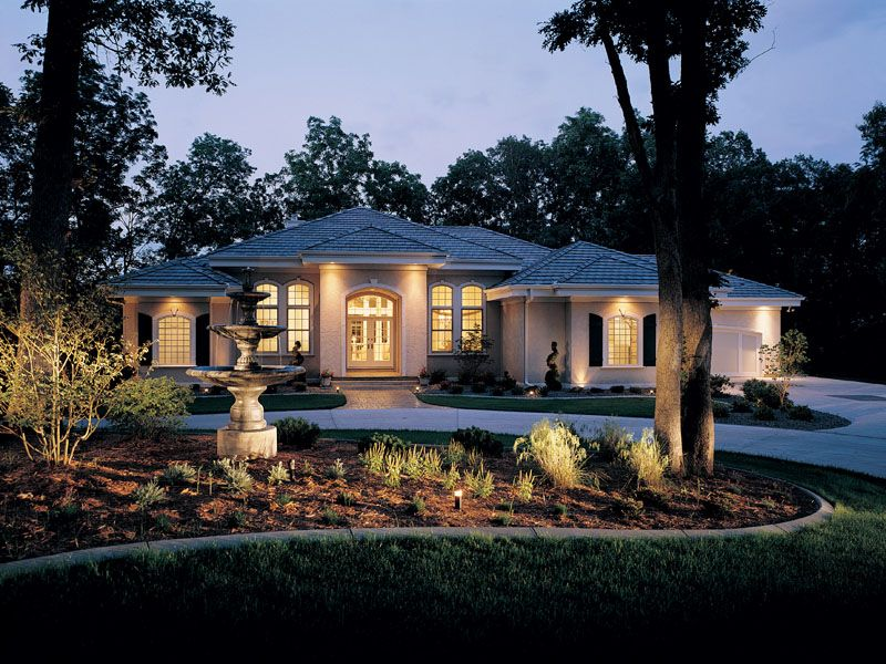 Talia Stucco Luxury Home Luxury Ranch Ranch Style Homes Ranch Style House Plans