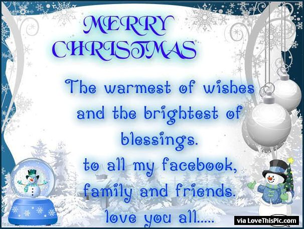 Merry Christmas To My Facebook Friends And Family Christmas Merry