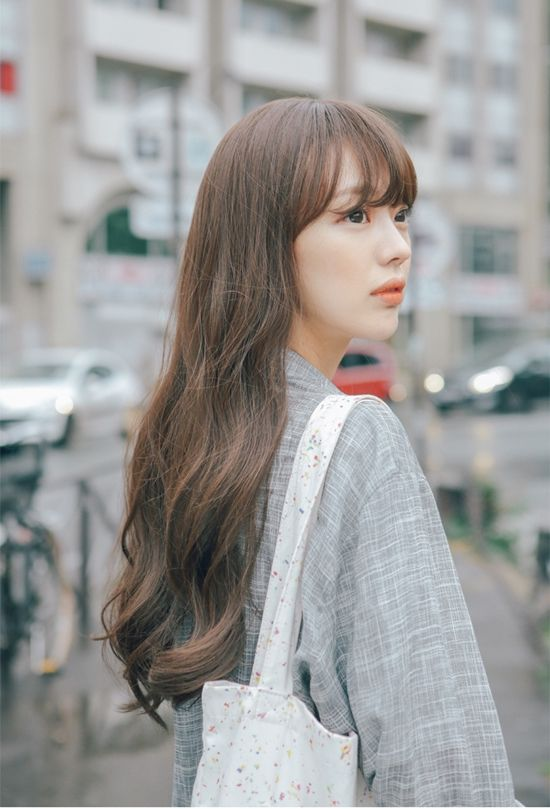 Korean Hairstyles And Fashion Long Layered Hair Korean Hair Color Long Hair Girl
