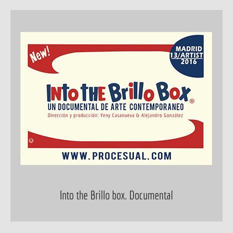 INTO-THE-BRILLO-BOX. YENY CASANUEVA Y ALEJANDRO GONZÁLEZ. PROYECTO PROCESUAL ART.