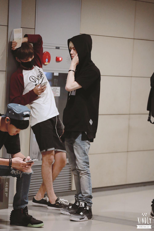 140809- EXO Suho (Kim Joonmyun) and Kai (Kim Jongin): Tianjin Airport to Incheon Airport #exok #men #fashion #style #korean