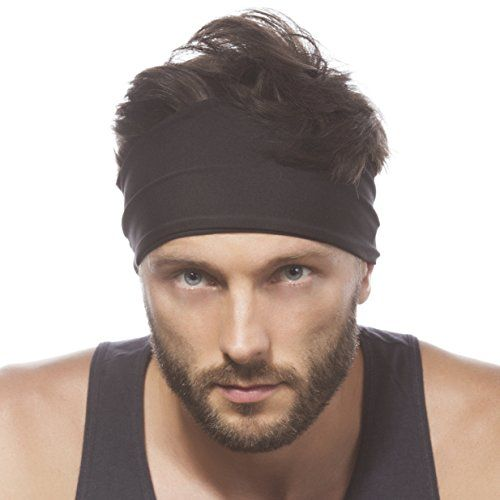 5d232d6cf1ad Sporty Touch 4 Wide Men Headband Sweatband Best for Sports Running Workout  Yoga Elastic Hair Band Ultimate Athletic Performance     Click image for  more ...