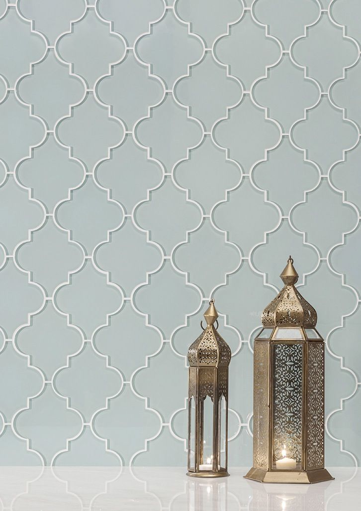 Glass Tile And Mosaics With Clear Appeal Arabesque Tile Backsplash Glass Mosaic Tile Backsplash Glass Mosaic Backsplash Kitchen
