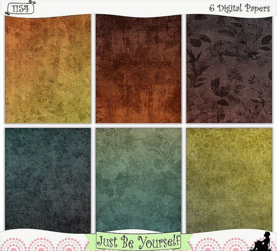 View Blue And Brown Ombre Digital Papers Crafter Files