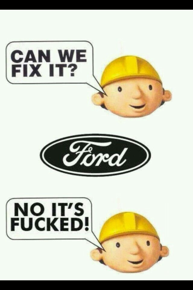 Ford Fix Or Repair Daily Found On Road Dead Lol Ford Humor