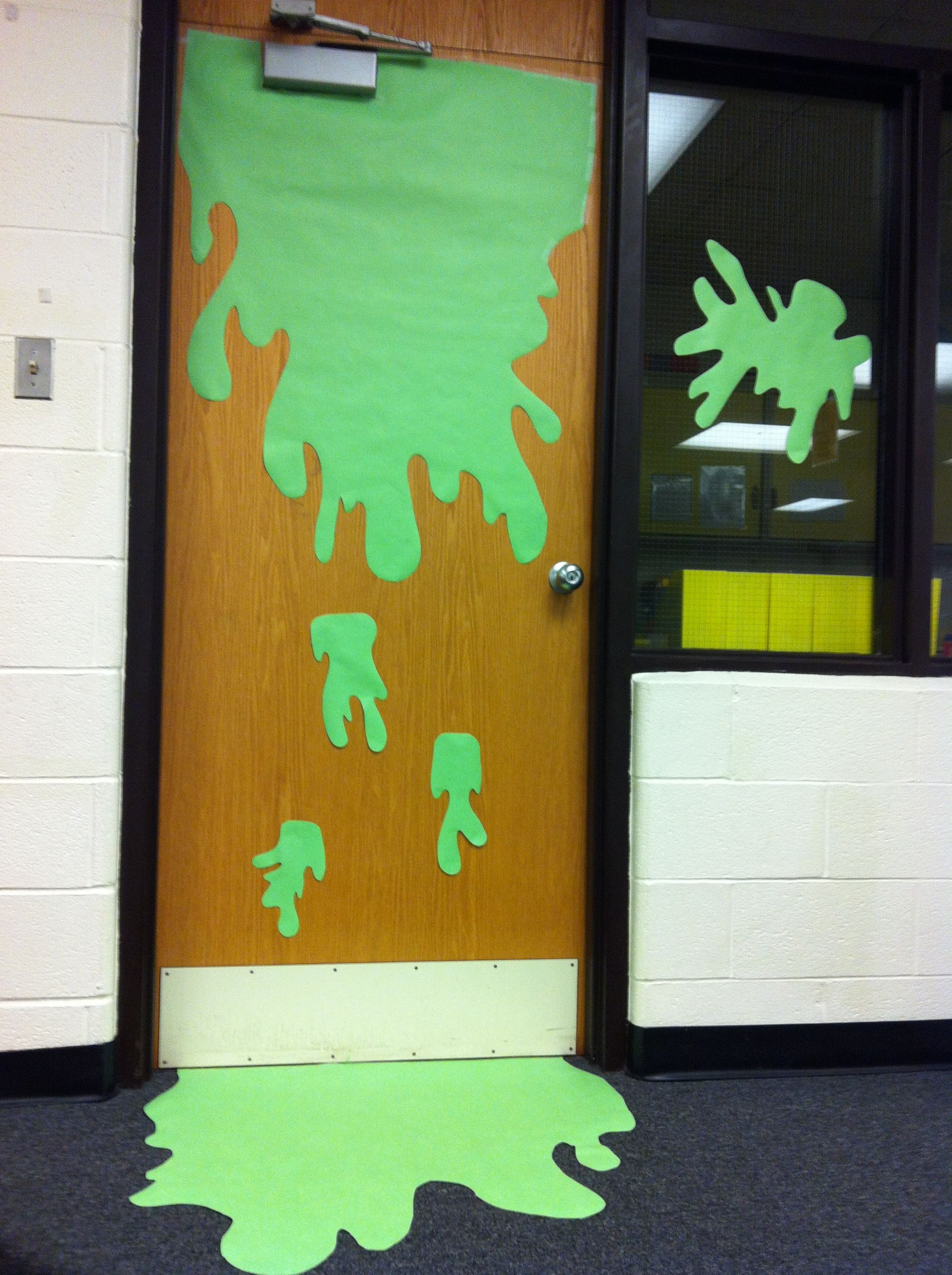 Monster Classroom Decor ~ Slime decorations for spring book fair scholastic