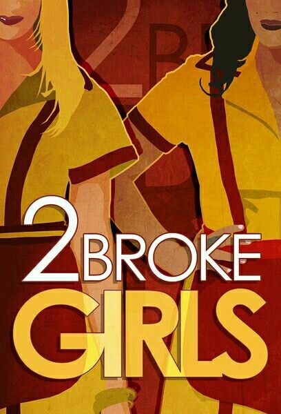 2 Broke Girls Minimalist Poster Tv Serie