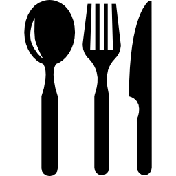 Restaurant Eating Tools Set Of Three Pieces Free Vector Icons Designed By Freepik Clip Art Vintage Icon Black And White Decor