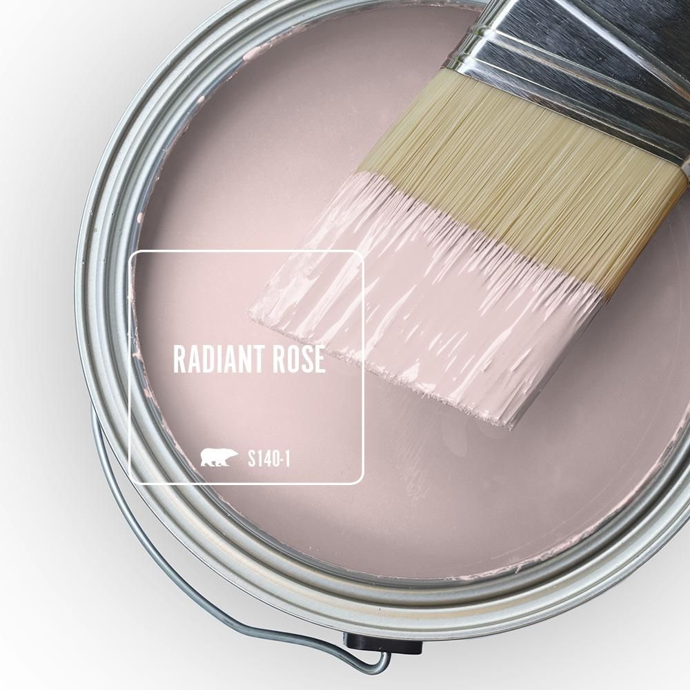 Behr Marquee 1 Qt S140 1 Radiant Rose Semi Gloss Enamel Exterior Paint Primer 545004 The Home Depot In 2021 Interior Paint Pink Paint Colors Behr Marquee Paint