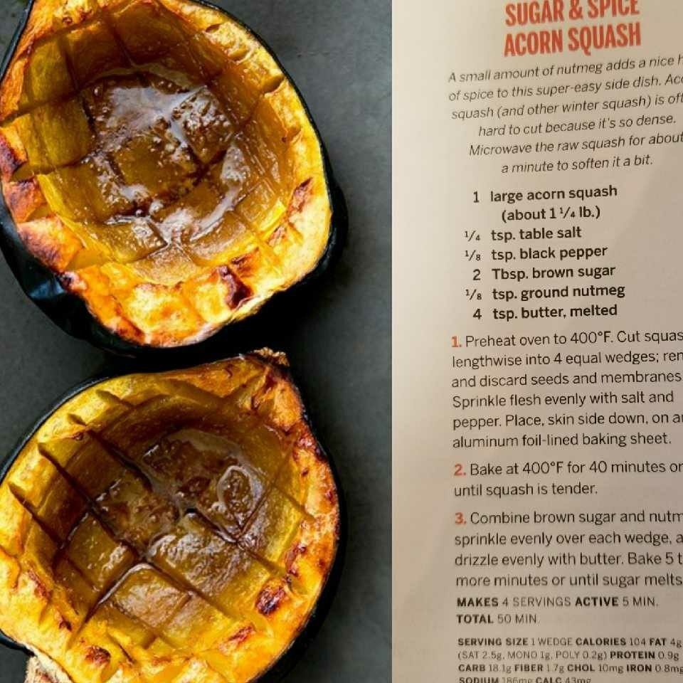 Sugar And Spice Acorn Squash Recipes Side Dishes Easy Food
